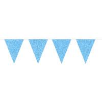 Flaggenbanner Blau Glitzer 6m Partydeko Geburtstag Kindergeburtstag
