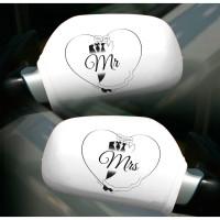 Hochzeit Autospiegelüberzieher Mr. / Mrs. Wedding Deko