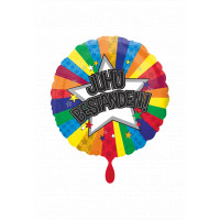 Folienballon Juhu Bestanden Art. 33748 Partydeko Ballon