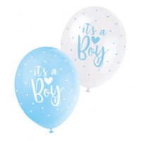 Luftballons it´s a Boy Blau Partydeko Babyparty Babyshower Geburt Ballon