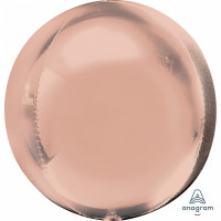 Folienballon Orbz Rund Rose Gold Art.36181 Partydeko Kugelballon
