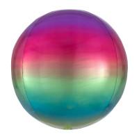 Folienballon Orbz Rund Ombre Regenbogen Art.39850 Partydeko Kugelballon