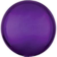 Folienballon Orbz Rund Lila Art.28207 Partydeko Kugelballon