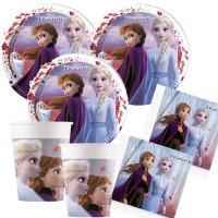 Partyset 53 Teile Frozen 2 Partydeko Partyset Disney Frozen Eiskönigin