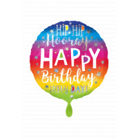 Folienballon Happy Birthday Art. 39624 Partydeko Geburtstag Ballon