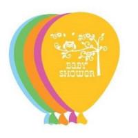 Eule Luftballons 6 Stück Partydeko Kindergeburtstag