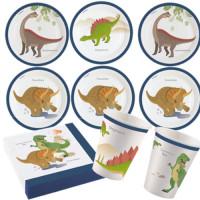 Dino Dinosaurier Partyset 53 Teile Kindergeburtstag