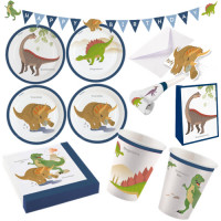 Dino Dinosaurier Partyset XXL 74 Teile Kindergeburtstag