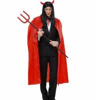 Halloween Kostüm Roter Umhang Teufel 130cm