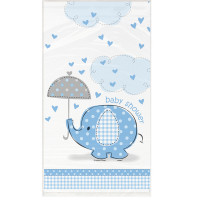 Babyshower Elefant Blau Tischdecke Partydeko Babyparty