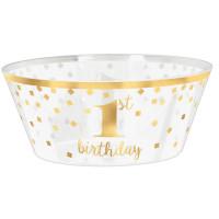 Krone Gold Schüssel Bowle Partydeko 1. Geburtstag Junge / Mädchen