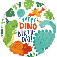 Folienballon Happy Birthday Dino Partydeko Ballon Geburtstag