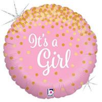 Folienballon Its a Girl Ballon Partydeko Babyparty Geburt