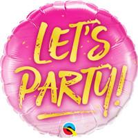 Folienballon Lets´Party Partydeko Ballon Geburtstag