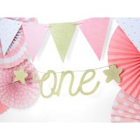 Girlande ONE Gold Partydeko 1. Geburtstag 1. Kindergeburtstag
