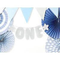 Girlande ONE Silber Partydeko 1. Geburtstag 1. Kindergeburtstag