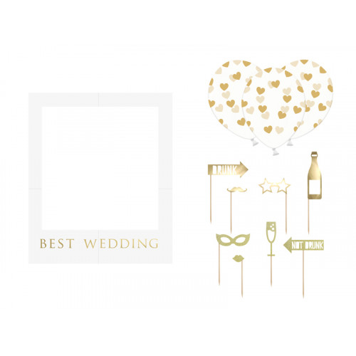 Foto Kit Best Wedding Hochzeit Partydeko Photo