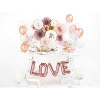 Love Folienballon Schriftzug Rose zur Hochzeit Partydeko