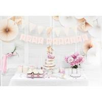 Wimpelbanner Just Married Rosa zur Hochzeit Partydeko