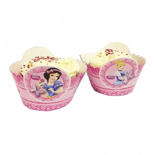 Prinzessin Cupcake / Muffin-Wraps Disney Partydeko Kindergeburtstag