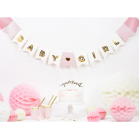 Girlande Baby Girl Rosa Babyparty