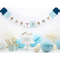 Girlande Baby Boy Blau Babyparty
