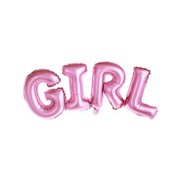 Folienballon Baby Schriftzug Rosa zur Babyparty Partydeko