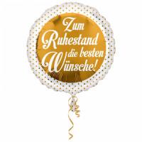 Folienballon Zum Ruhestand Wünsche Rentner Partydeko Ballon