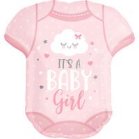 Folienballon XXL Its a Girl T-Shirt Art. 41913 Partydeko Ballon Babyparty Rosa