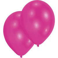 Luftballons Magenta Metallic Pink Partydeko Geburtstag 10 Stück