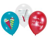 Einschulung Luftballon Hurra Schulkind ABC Schulanfang