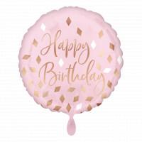 Folienballon Happy Birthday Rosa Art.42116 Partydeko Ballon Geburtstag
