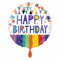 Folienballon Happy Birthday Bunt Art.34555 Partydeko Ballon Geburtstag