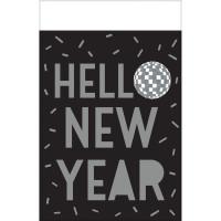 Silvester Tischdecke Schwarz Happy New Year