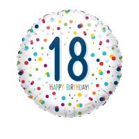 Folienballon Zahlenballon Konfetti Zahl 18 Partdeko Geburtstag