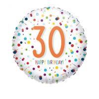 Folienballon Zahlenballon Konfetti Zahl 30 Partdeko Geburtstag