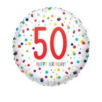 Folienballon Zahlenballon Konfetti Zahl 50 Partdeko Geburtstag