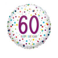 Folienballon Zahlenballon Konfetti Zahl 60 Partdeko Geburtstag