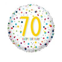 Folienballon Zahlenballon Konfetti Zahl 70 Partdeko Geburtstag