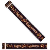 Halloween Partydeko Folienbanner Kürbis Dunkel