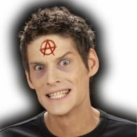 Halloween Wunden Anarchie Symbol inkl. Kleber Zombie Teufel