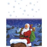 Weihnachten Tischdecke Weihnachtsmann Santa Claus Deko