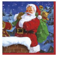 Weihnachten Servietten 16 Stück Weihnachtsmann Partydeko