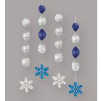 Weihnachten Hängedekoration 4 Stück Blau