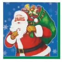 Weihnachten Servietten Weihnachtsmann mit Sack 16 Stück