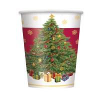 Weihnachten Becher 8 Stück Tannenbaum Partydeko