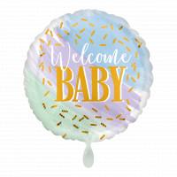 Folienballon Welcome Baby Partydeko Ballon