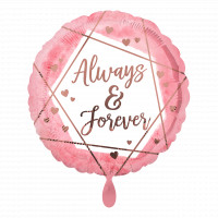 Folienballon Always & Forever Hochzeit Partydeko Ballon