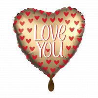 Folienballon Herz Love You Hochzeit Partydeko Ballon