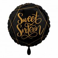 Folienballon Sweet Sixteen 16. Geburtstag Ballon